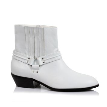 Men's 1.5 Inch Calf Boot (Large,White)