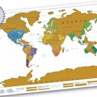 Scratch Map - Personalised World Map   Travel Gifts by Getting Personal