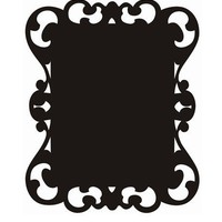 Victorian Chalkboard Wall Sticker - Decor  - Wall