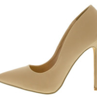 Nude Pointed Toe Heel