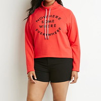Nowhere Graphic Drawstring Sweatshirt