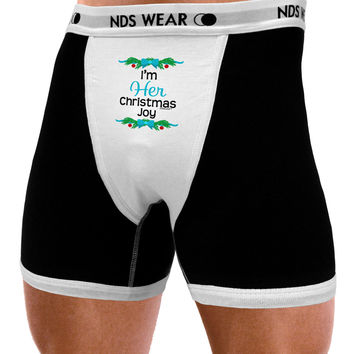 Her Christmas Joy Matching His & Hers Mens NDS Wear Boxer Brief Underwear