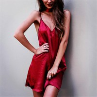 Elyse Satin Slip Dress