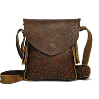 Women Genuine Leather Shoulder Bag With Magnet Closure, Small Corssbody, Saddle Bag, Messenger Purses, 4W501