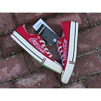 Best Deal Online KITH x Coca-Cola x Converse Red 171812C Women Sneaker Flats Shoes Ca