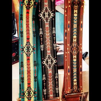 Elastic Native American Motif Belts