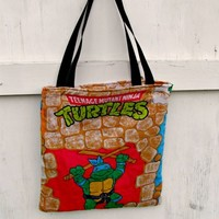 Teenage Mutant Ninja turtle bag TOTE Purse gift TMNT vintage