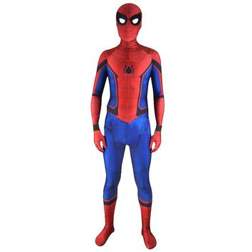 high quality spandex original custom the amazing spiderman spider man homecoming costume suit mask cosplay 3d print adult zentai