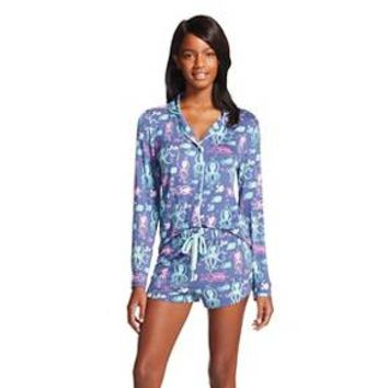 Nite Nite Munki Munki® Women's Sleep Set Under the Sea - Navy Fish