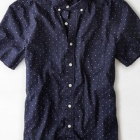 AEO Men's Patterned Button Down Shirt