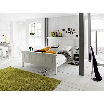 Halifax Bed Queen-Size White semi-gloss