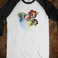 Powerpuff Girls Unisex Baseball Tee