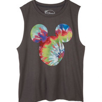 Tie-Dye Mickey Fill Muscle Tank - Black