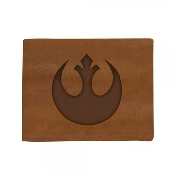 Star Wars Rebel Genuine Leather Bi-Fold Men Gentlemen Wallet Bioworld New