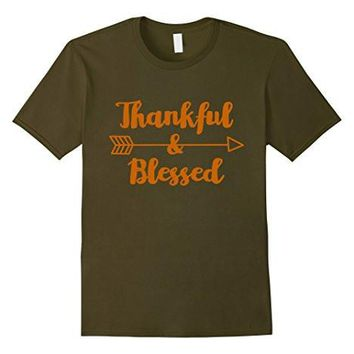 Thankful & Blessed   Thanksgiving Inspirational Shirt