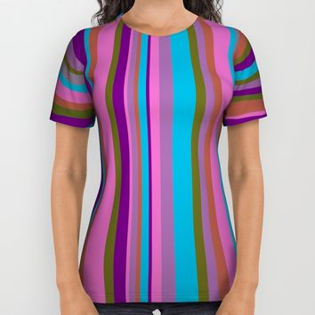 Lines #society6 All Over Print Shirt by Azima