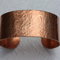 Hammered Copper Cuff  - Hammered Cuff - Copper Bracelet - Wide Cuff - Gift For Her - Metalwork - Gift For Him
