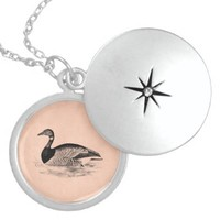 Vintage Goose Illustration - 1800's Geese Template Locket