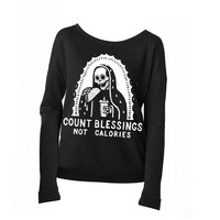 Count Blessings Not Calories Scoop L/S
