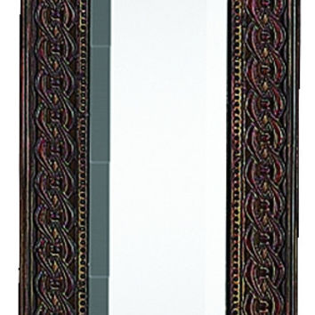Metal Decorative Mirror Adored With Small Metallic Accents