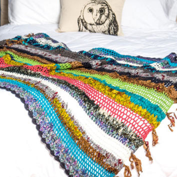 Colorful House Throw