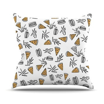 "Vasare Nar ""Burgers & Pizza"" Food Throw Pillow"