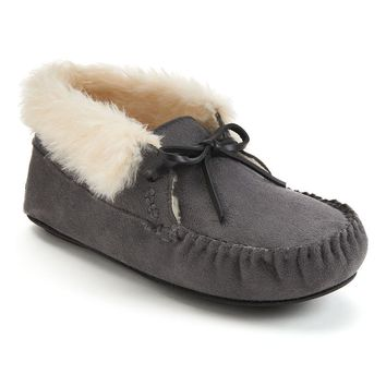 Mudd Moccasin Bootie Slippers - Women's