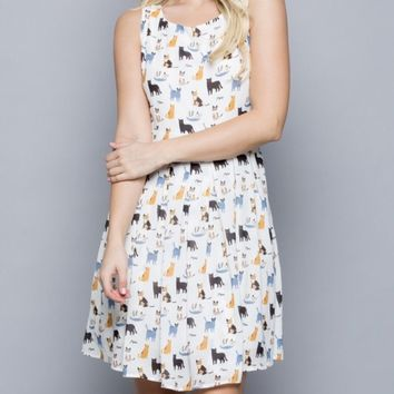 Cutest Cat Print Dress