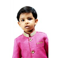 Indo Western Indian Wedding Party Bollywood Kids Sherwani with Breeches Pajama