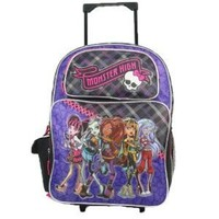 Monster High Rolling Backpack Roller Luggage School Book Bag Girls:Amazon:Toys & Games