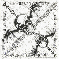 Avenged Sevenfold White Cross Bandana White