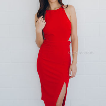 maddie dress - red