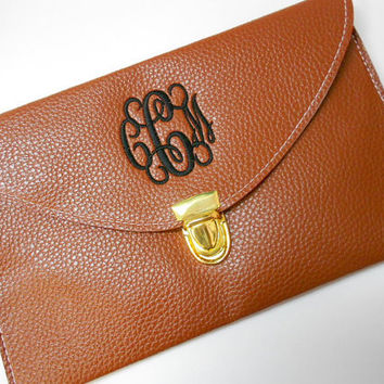 Monogram Clutch Purse Font Shown INTERLOCKING by MONOGRAMSINC