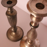 Silver Plated Candle Holders, Vintage Silver Candle Holders, Vintage Candlelabra