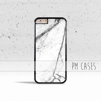 Black & White Marble Case Cover for Apple iPhone 4 4s 5 5s 5c 6 6s SE Plus & iPod Touch
