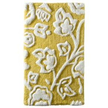 Floral Bath Rug - Yellow -Threshold™