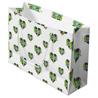 Happy Mardi Gras Logo Large Gift Bag