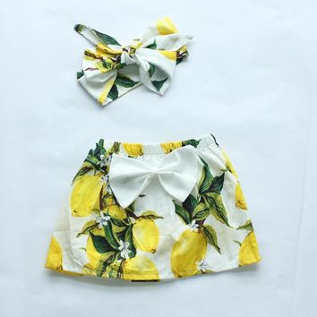 baby girls clothes new style baby girl skirts floral fruits printing girls skirt