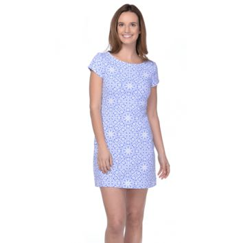 Addie Irish Lace Periwinkle Dress in Blue by Mahi Gold