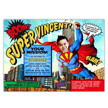 shop superman birthday invitations on wanelo, Birthday invitations