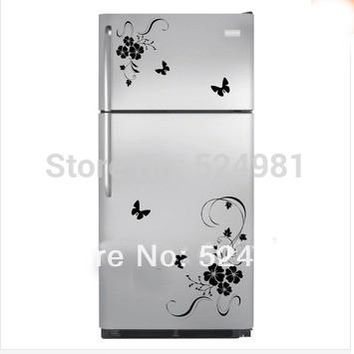 New arrival! Freeshipping Flower Wall Art Stickers Wall Decal Kitchen Refrigerator Flower Home Decor Decoration hot sale