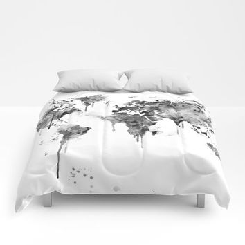 World Map Comforters by MonnPrint