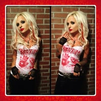 REDRUM bloody halloween gore shirt tank DIY punk,small,med or large. Choose Tank or fitted T-shirt.