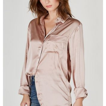 Spot On Satin Blouse