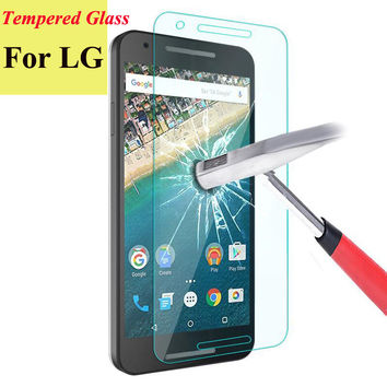 2.5D 9H Tempered Glass Screen Protector Film For LG G2 G3 Stylus G4 Stylus G5 Nexus 5 V10 Spirit H422 Leon H340 Phone Cases