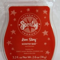 Love Story Scentsy Bar Wickless Candle Tart Warmer Wax 3.2 Fl Oz, 8 Squares