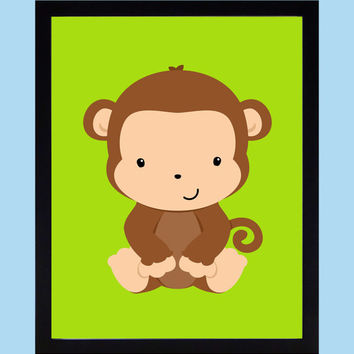 Shop Monkey Wall Art For Nursery on Wanelo