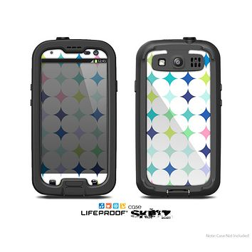 The Vibrant Fun Colored Pattern Hoops Inverted Polka Dot Skin For The Samsung Galaxy S3 LifeProof Case