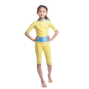 Muslim Arab Girls Kids Modest Swimwear Full Covered Swimsuit Islamic Beachwear S M L XL