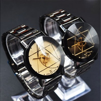 2016 New Fashion Men's Women's Luxury Lovers'/Couple's Stainless Steel Quartz Analog Wrist Watches [8069817415]